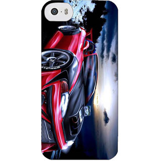 Stubborne Multicolor Supra 3D Printed Apple Iphone 5S Back Cover / Case