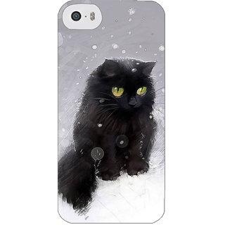 Stubborne Smush Cat Multicolor 3D Printed Apple Iphone 5S Back Cover / Case