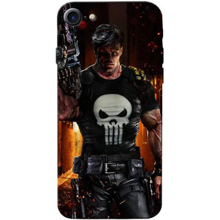 Stubborne Angry Punisher 3D Printed Apple Iphone 7 Back Cover / Case