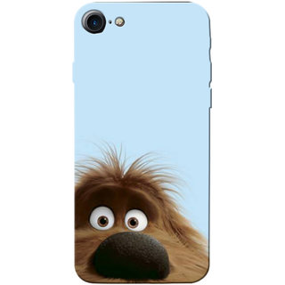 Stubborne Multicolor Confused Dog 3D Printed Apple Iphone 7 Back Cover / Case