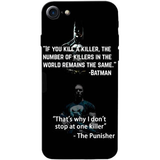 Stubborne Multicolor Punisher & Batman 3D Printed Apple Iphone 7 Back Cover / Case