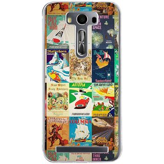 Ifasho Animated Pattern Colourful Hollywood Film Posters  Back Case Cover For Asus Zenfone Selfie