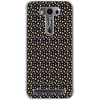 Ifasho Animated Pattern Colourful Littel Stars Back Case Cover For Asus Zenfone Selfie
