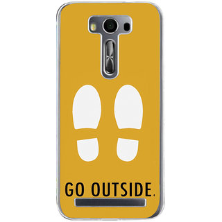 Ifasho Life Quotes Go Outside Back Case Cover For Asus Zenfone Selfie
