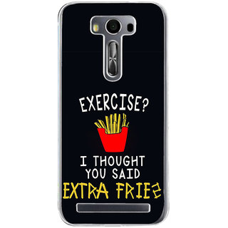Ifasho Quotes On Exercise Back Case Cover For Asus Zenfone Selfie