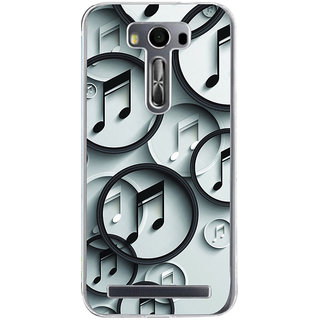 Ifasho Modern Art Design Pattern Music Symbol Back Case Cover For Asus Zenfone Selfie