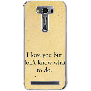 Ifasho Love Quotes I Love You Back Case Cover For Asus Zenfone Selfie