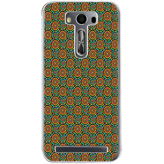 Ifasho Animated Pattern Design Colorful Flower In White Background Back Case Cover For Asus Zenfone Selfie