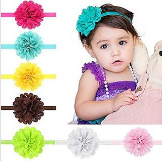 4fc0608fbeb4 PETMALL 5pcs Hollow Elastic Hair Band Baby Headwear Fashion Brand New  Christmas Gifts Headbands Girls Infant Bow Flower