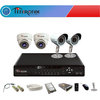 4 Channel H.264 Network DVR with 4  800 TVL  DOME&Bullet  IR Cameras