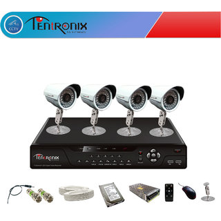 4 Channel H.264 Network DVR with 4  800 TVL  Bullet  IR Cameras