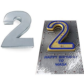 Small Number Two 2 Wedding Birthday Anniversary Cake Baking Pan Tin 10 X 8