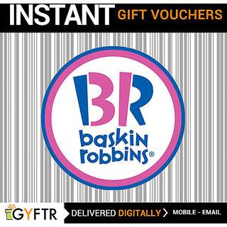 Baskin Robbins GyFTR Insta Gift Voucher INR 1000