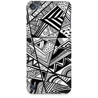 CopyCatz Black And White Abstrct Premium Printed Case For Apple IPod Touch 6