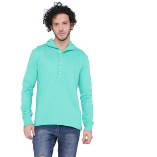 LUCfashion Men's Exclusive Premium Fashionable Henley Hoodies
