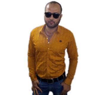 Plain Orange Shirt For Men