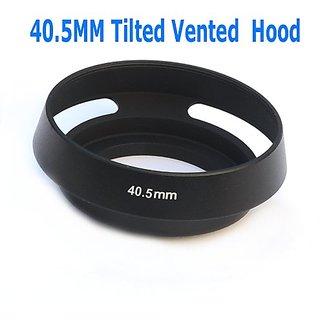 Ezfoto 40.5Mm Tilted Vented Metal Lens Hood Shade For Leica, Contax Zeiss, Voigtlander Lens