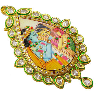 Radha krishna painting in frame gold platted rajwada pendant at radha krishna painting in frame gold platted rajwada pendant aloadofball Images