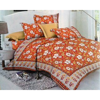 The Divine Cotton Abstract 27 Inches  17 Inches Full 1 Bed Cover + 1 Pillow Cover Multicolor - (TDICTNLE013)