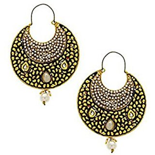 Anuradha Art Golden Finish Classy Designer Traditional Earrings For Women/Girls