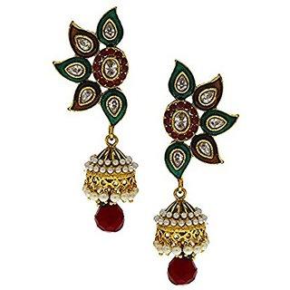 Anuradha Art Golden Colour Classy Designer Multi Colour Traditional Earrings For Women/Girls