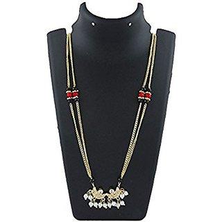 Anuradha Art Goldne Finish Classy Designer Chandrakor Mangalsutra For Women