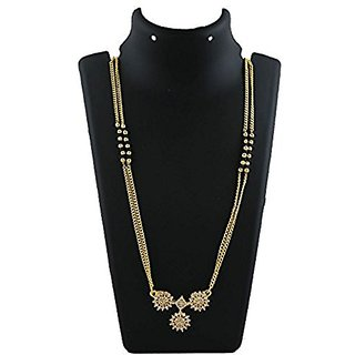 Anuradha Art Golden Colour Classy Studded With Sparkling Stone Mangalsutra Set For Women