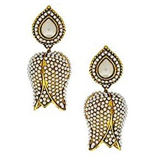 Anuradha Art White Colour Stylish Design Beautiful Earrings For Women/Girls