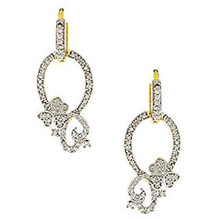 Anuradha Art Flaunt Your Fashionable Taste With American Diamonds Earrings For Women/Girls