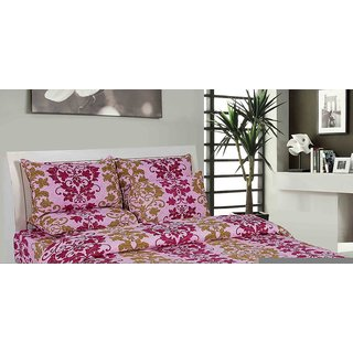 The Divine Cotton Abstract 27 Inches  17 Inches Full 1 Bed Cover + 1 Pillow Cover Multicolor - (TDICTN1051DB)