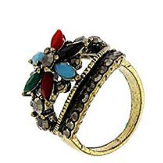 Anuradha Art Multi Colour Stylish Design Beautiful Finger Ring For Women,Girls