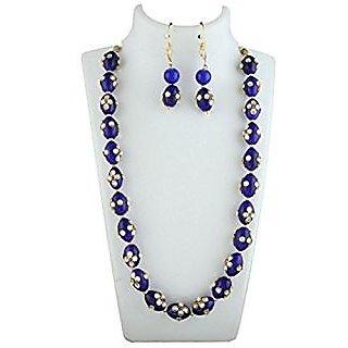Anuradha Art Golden Finish Classy Different Stylish Necklace Set For Women/Girls