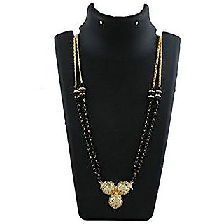 Anuradha Art Golden Finish Classy Waati Styled Mangalsutra Set For Women