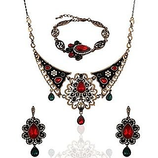 Anuradha Art Red Necklace For Women