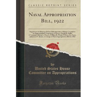 Naval Appropriation Bill, 1922