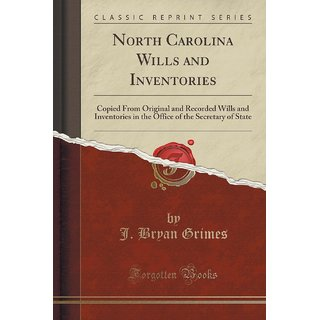 North Carolina Wills And Inventories