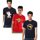 Weardo Combo Of 3 Printed T-Shirts (Astronaut, Bazinga, Know Your Fish)