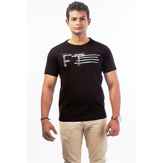 Fundoo-T Black Print  Polo T-shirts