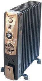Bajaj Majesty RH 11F Plus Oil Filled Room Heater with Fan (Black)