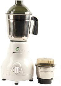 GTC Green Home Mixer Grinder 450W With 2 Stainless steel Jar (White)