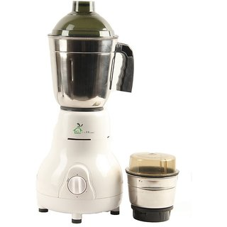 GTC Green Home Mixer Grinder 500W With 2 Stainless steel Jar (White)