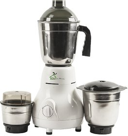 GTC Green Home Mixer Grinder 450W With 3 Stainless steel Jar (White)