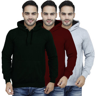 X-Cross Multicolor Hooded Long Sleeve Sweatshirt For Men
