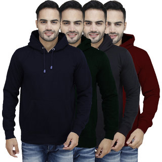 X-Cross Multicolor Hooded Long Sleeve Sweatshirt For Men
