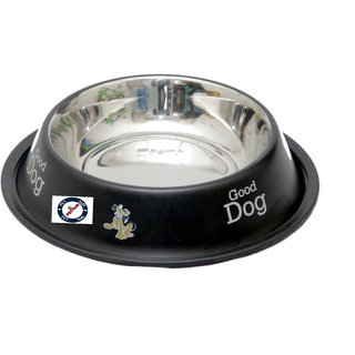 Pethub Quality And Stylish Dog Food Bowl-920 ML -Black