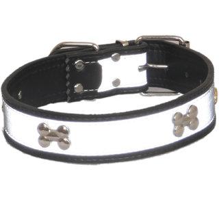 PETHUB Dog Collar Standard Leather 1.25 inch -Black