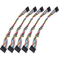 Magideal 5Pcs Keyestudio 8 Pin 20Cm Jumper Wire/Dupont Cable For Arduino Breadboard