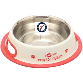 Pethub Quality And Stylish Dog Food Bowl Royal Feeder -2900 ML-White