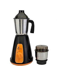GTC Green Home Mixer Grinder 450w With 2 Stainless steel Jar (Black  Orange)