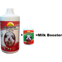 Growel Milk Booster- 1 ltr. A Guaranteed Milk Boosting Formula For Cow,Buffalo  Other Animals.
